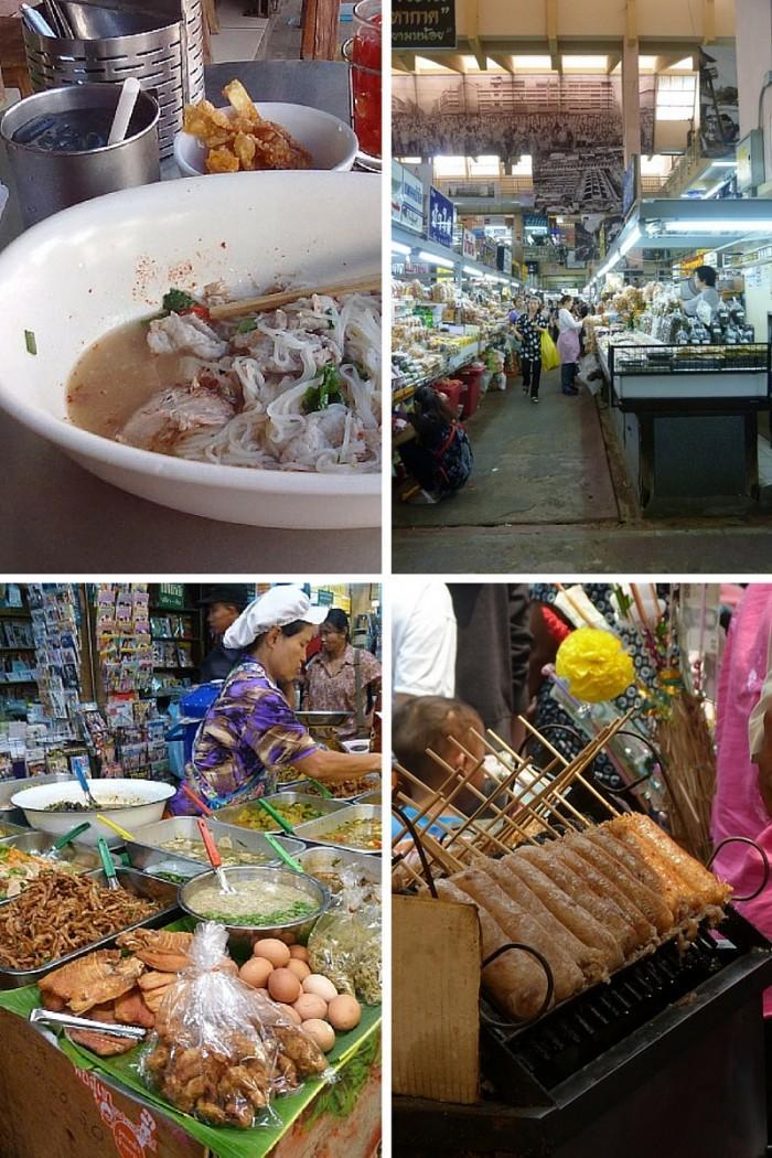 Essen in Chiang Mai auf dem Wararot und in Foodcourts