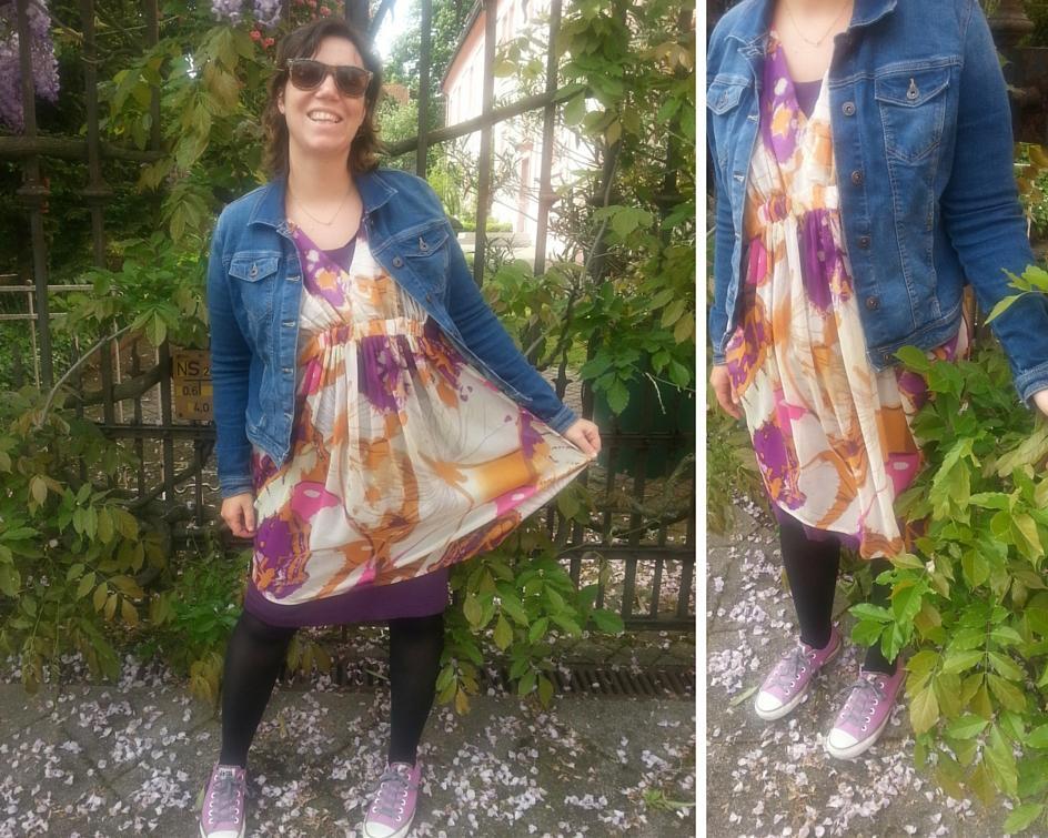 Jeansjacke mit Farbe