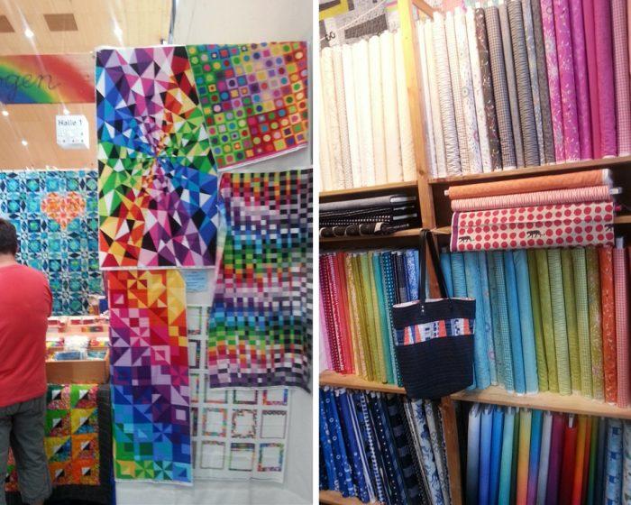 Quilts und bunte Stoffe